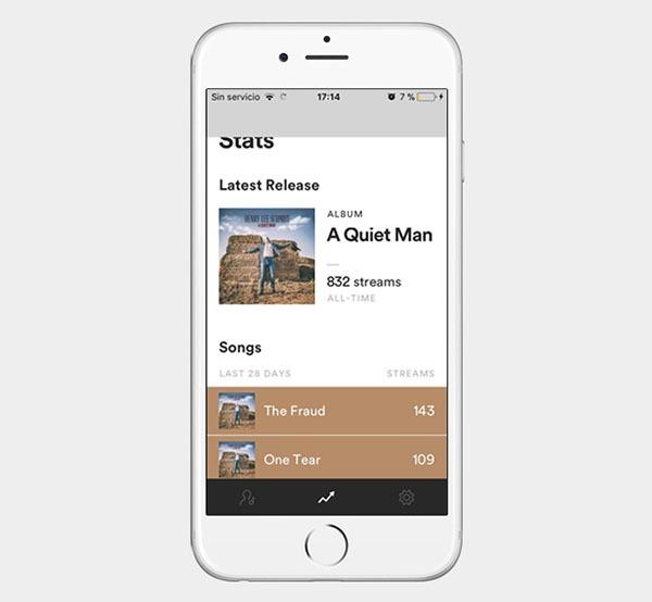 Spotify para artistas, la app para que los músicos gestionen su perfil