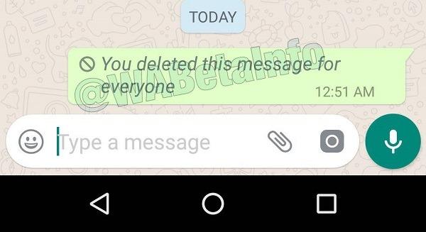 eliminar para todos en WhatsApp