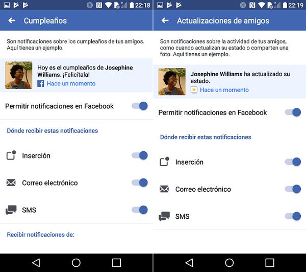 facebook configuración