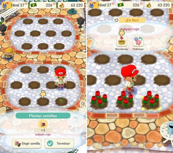animal crossing pocket camp recolectar plantas