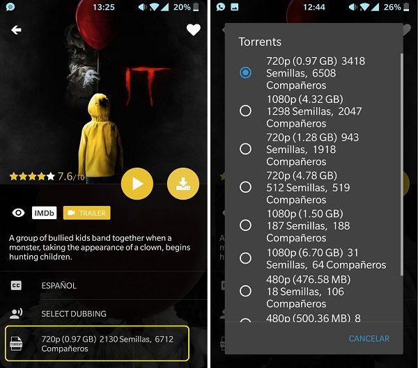 popcorn time elegir torrent