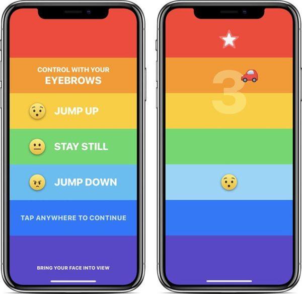 Rainbrow, el juego de iPhone X que se controla con las cejas