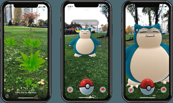 Pokémon GO mejora su modo de Realidad Aumentada en iPhone