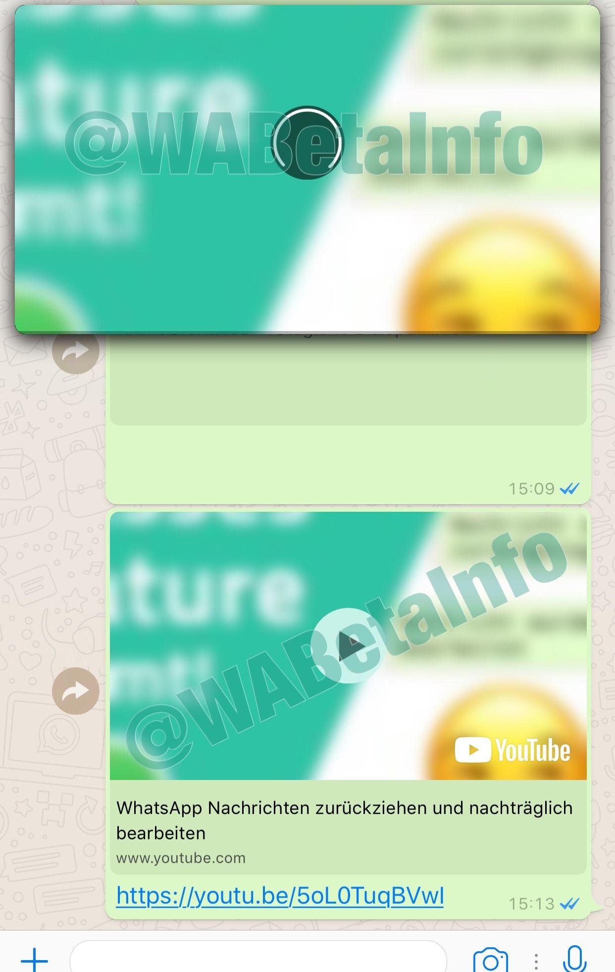 WhatsApp ventana YouTube