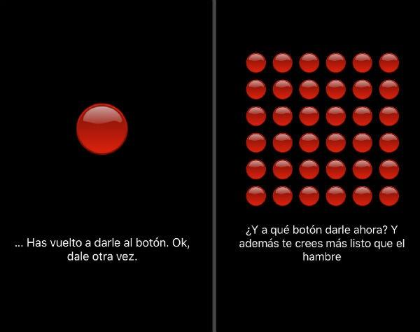 ¡No presionar el botón rojo!