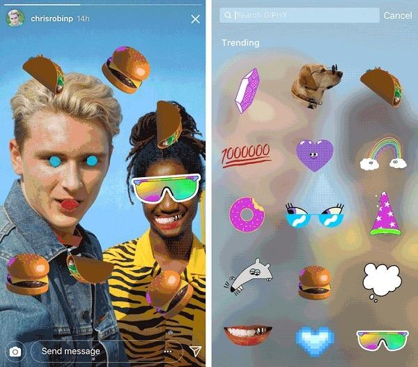 Los GIF animados llegan a las Instagram Stories