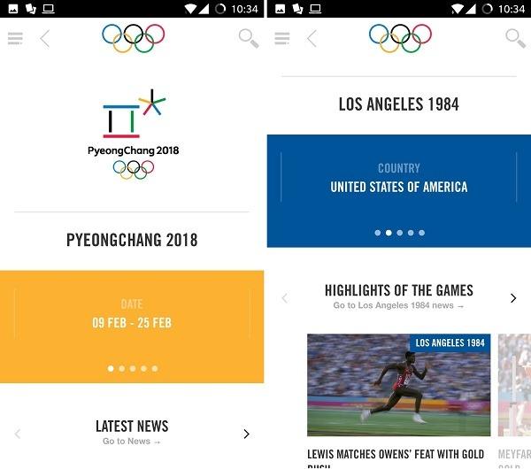 the olympics app