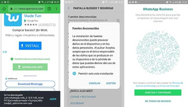 WhatsApp Business Google Play Store
