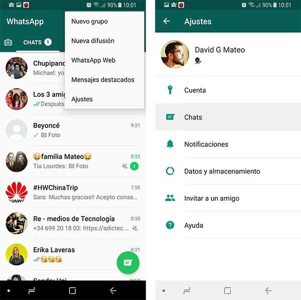 pasar mensajes de WhatsApp