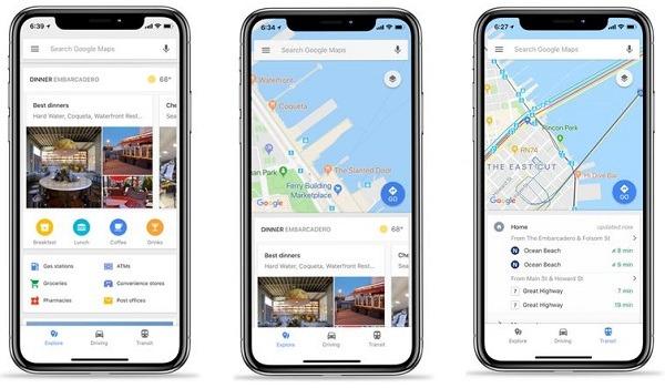 Novedades de Google Maps para iOS