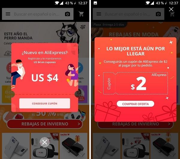 Conseguir El Cupon Aliexpress Por Comprar En La App