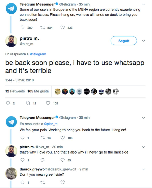 Telegram caída