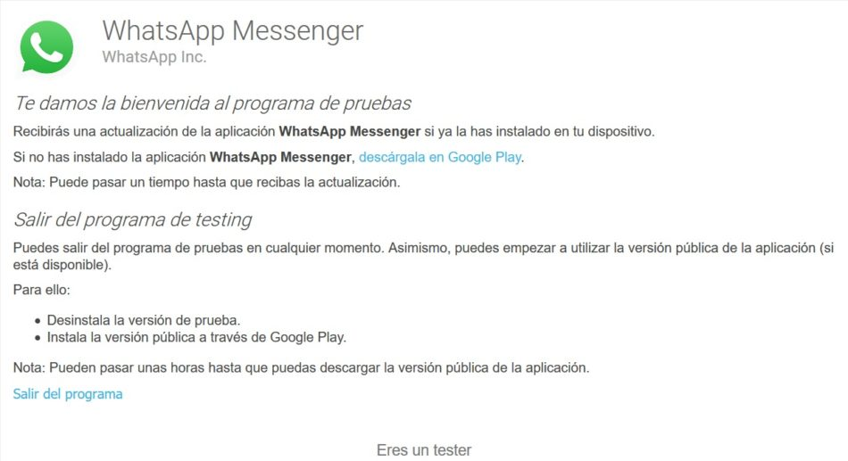 beta tester whatsapp