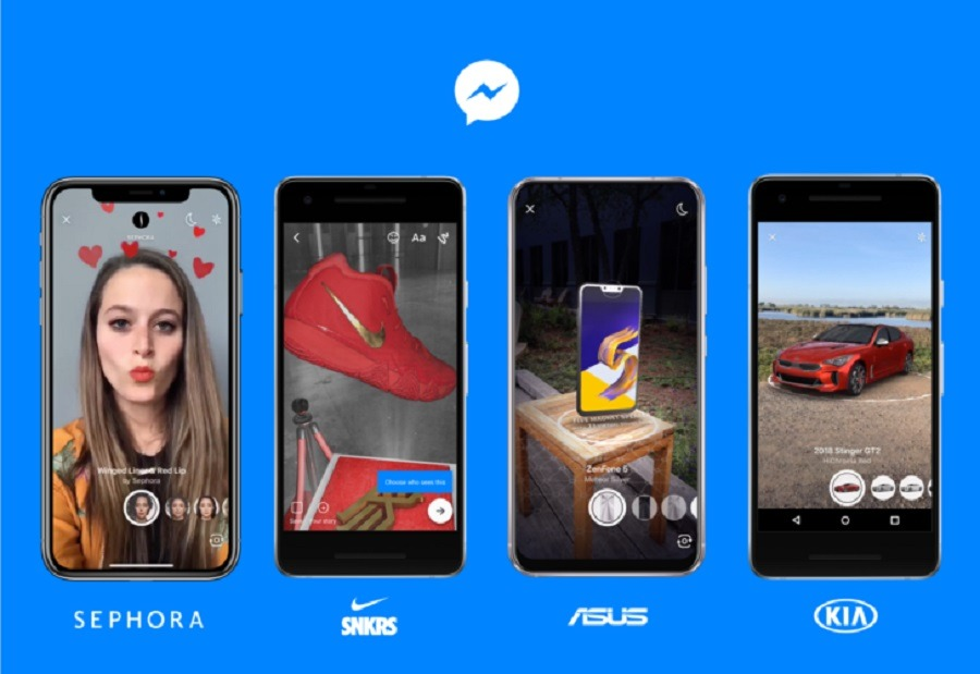 Facebook Messenger pronto tendrá Realidad Aumentada y un nuevo diseño