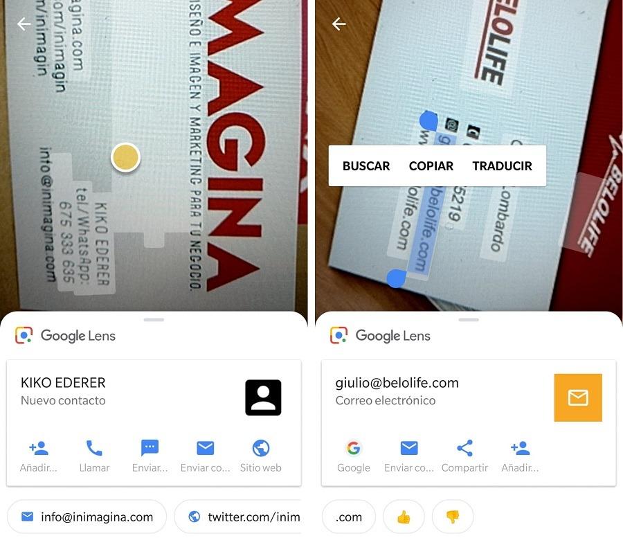 contacto google lens