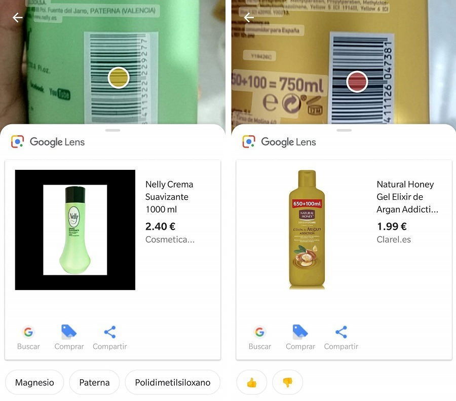 google lens productos