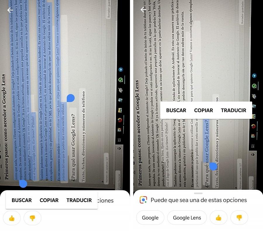 google lens texto