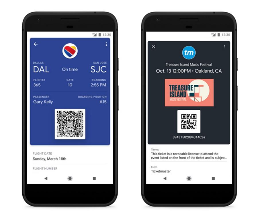 Google Pay tarjetas de embarque