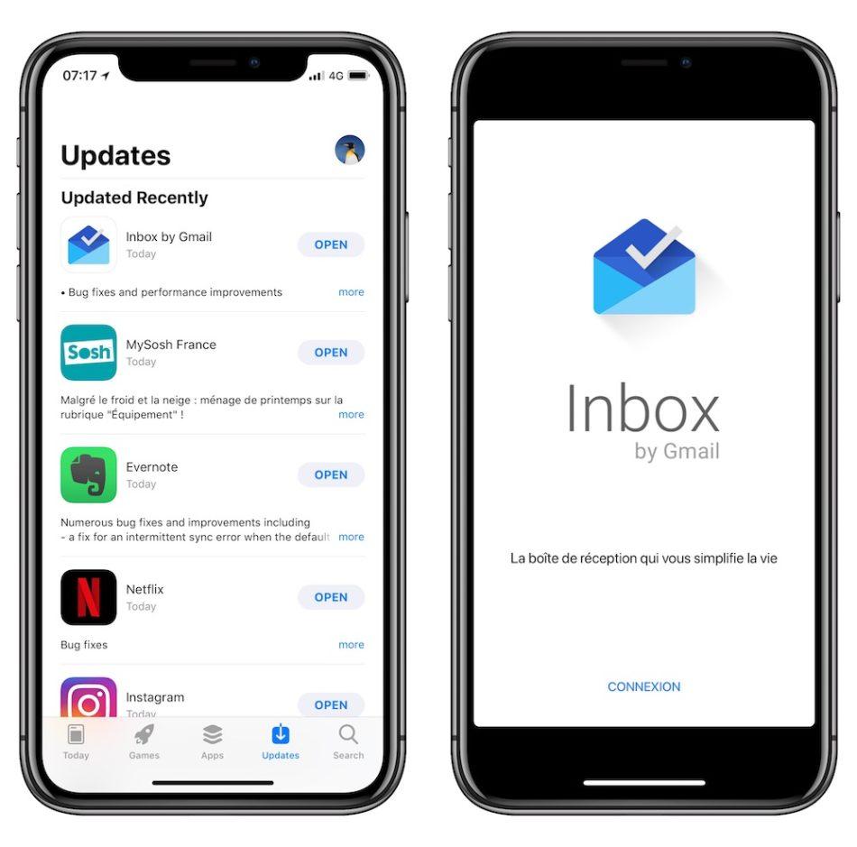 Inbox de Gmail ya se adapta a la pantalla del iPhone X