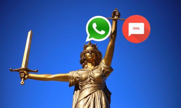 WhatsApp amenaza legalmente a otras aplicaciones de mensajería