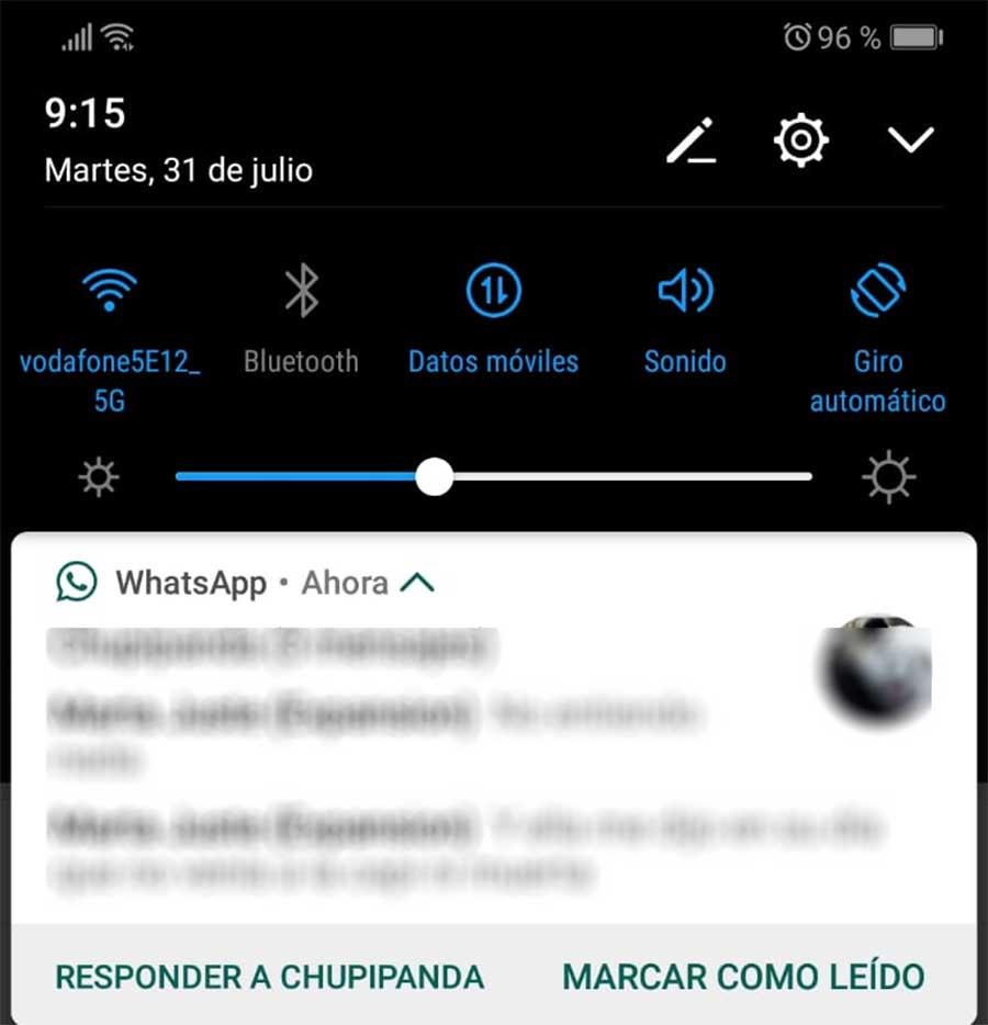 Cómo marcar un mensaje de WhatsApp como leído desde las notificaciones