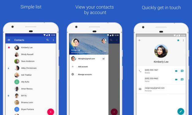 La aplicación Contactos de Google se actualiza con modo oscuro