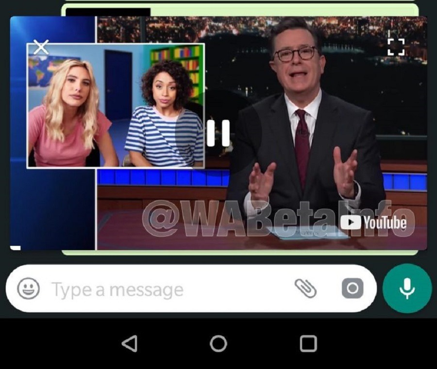 WhatsApp vídeo en app