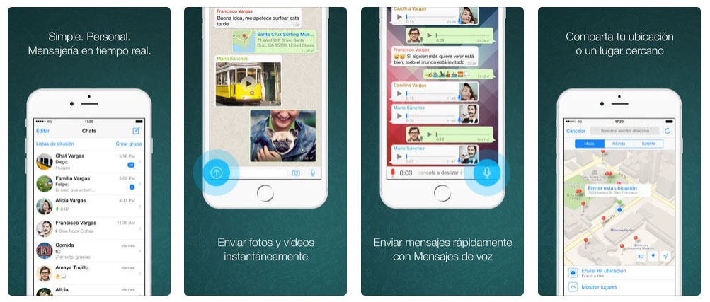 WhatsApp iPhone reenviar