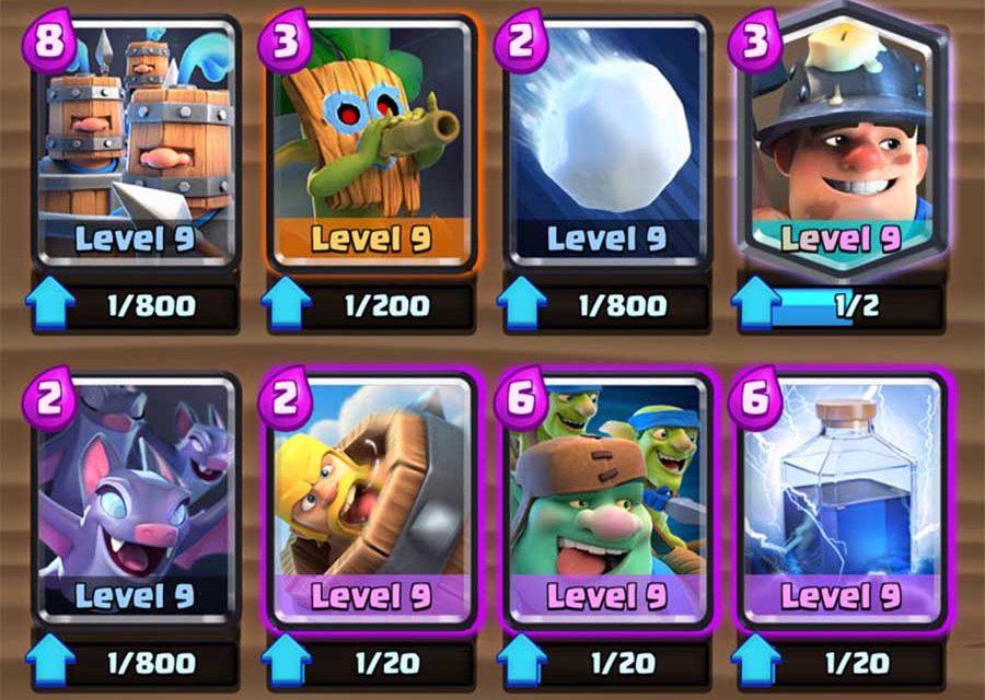 Así es el nuevo sistema de niveles de cartas de Clash Royale