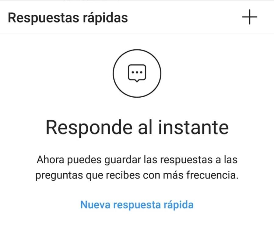 Cómo crear respuestas rápidas para Instagram Direct