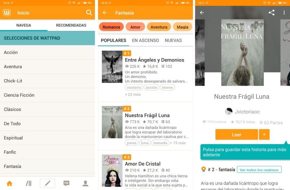 5 aplicaciones para leer cómodamente en tu móvil 1