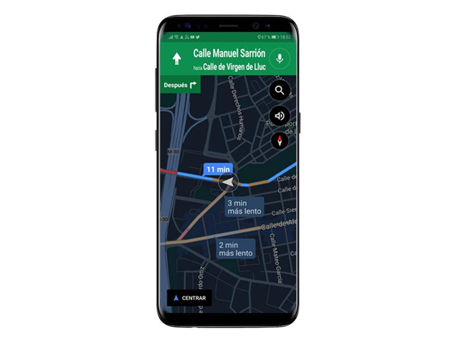 Cómo cambiar al modo noche manualmente en Google Maps