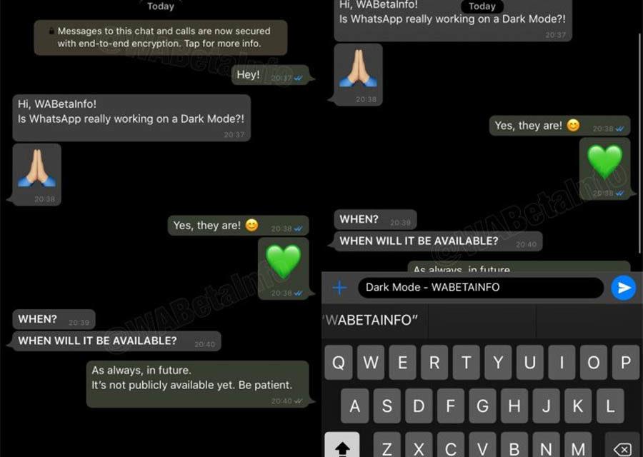 Así será el modo oscuro de WhatsApp en iPhone