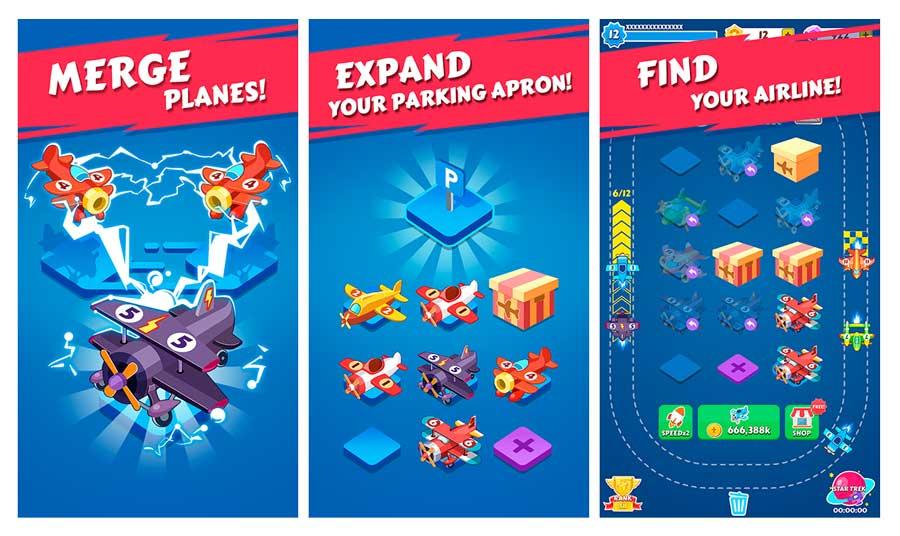 los 5 juegos del momento para Android Merge Plane