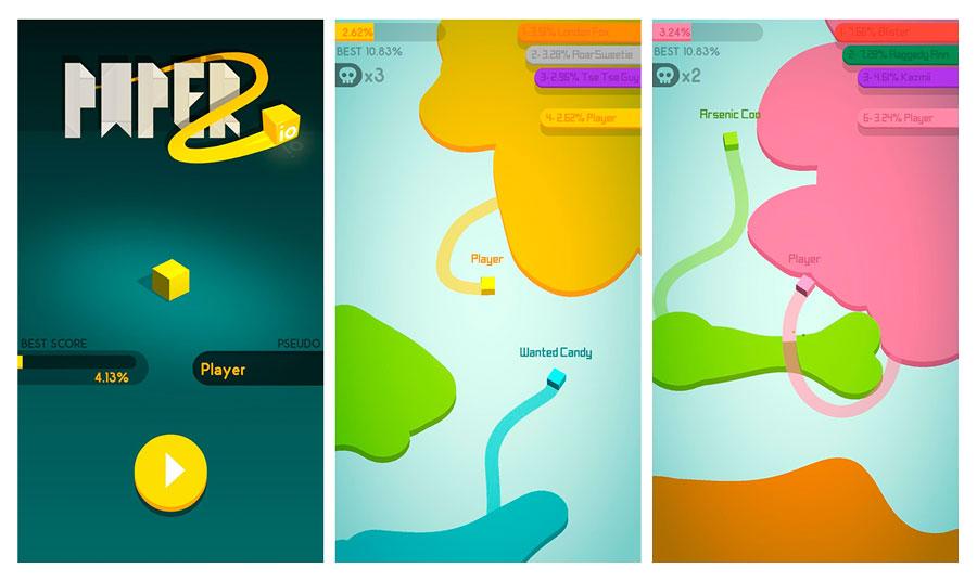 los 5 juegos del momento para Android Paper.io 2
