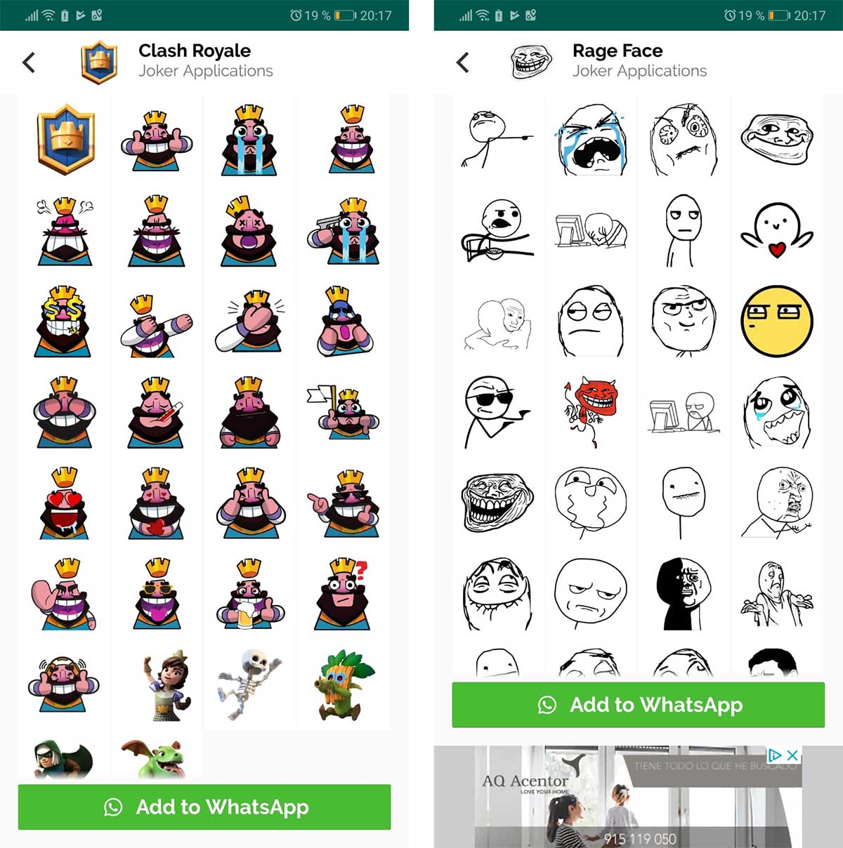 stickers para whatsapp de Clash Royale