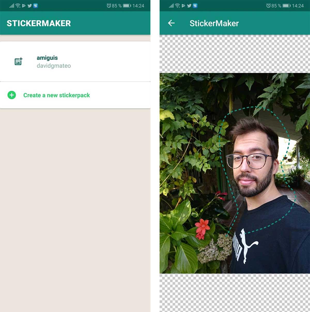 WhatsApp crear stickers