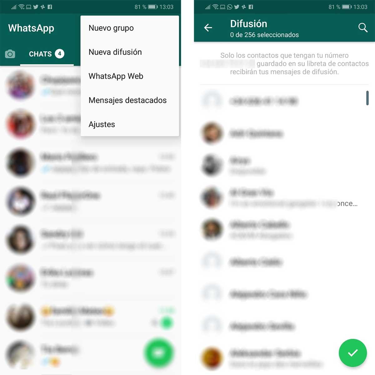 difusiones de nochevieja WhatsApp