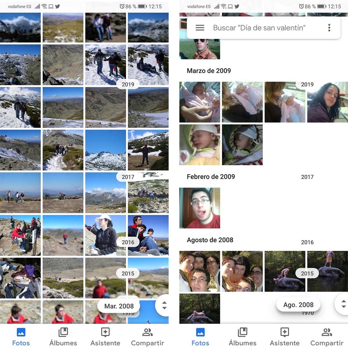 buscando en google fotos