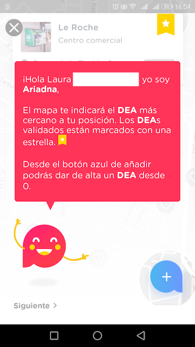ariadna app desfibriladores
