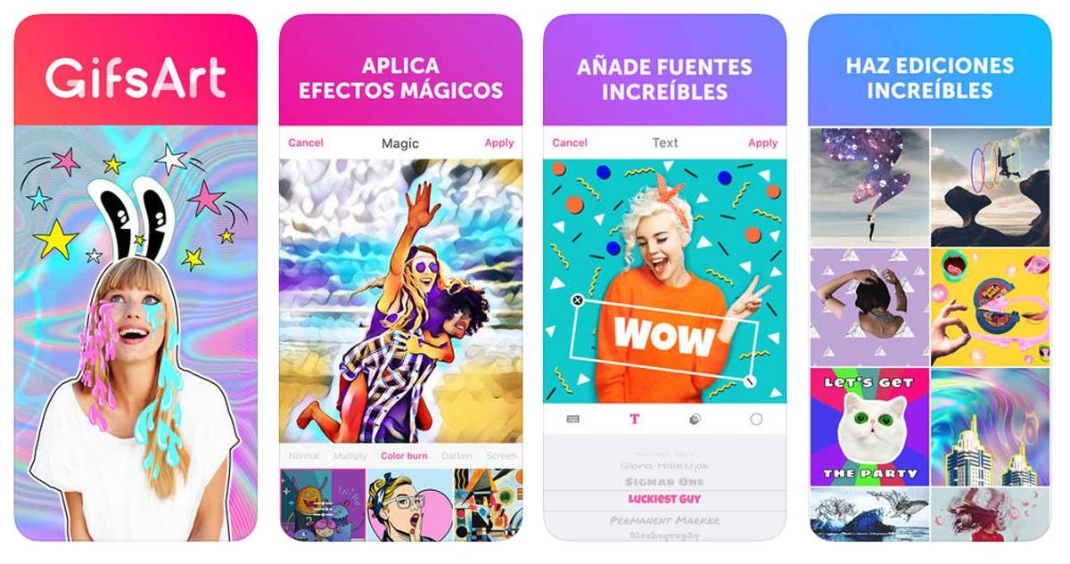 cómo crear GIF animados en Android y iPhone PicsArt