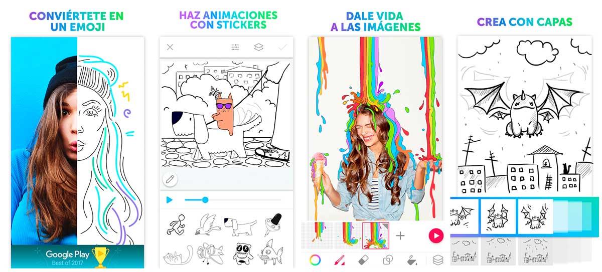 cómo crear GIF animados en Android y iPhone PicsArt Android