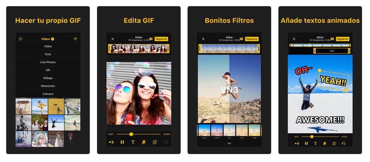cómo crear GIF animados en Android y iPhone ImgPlay