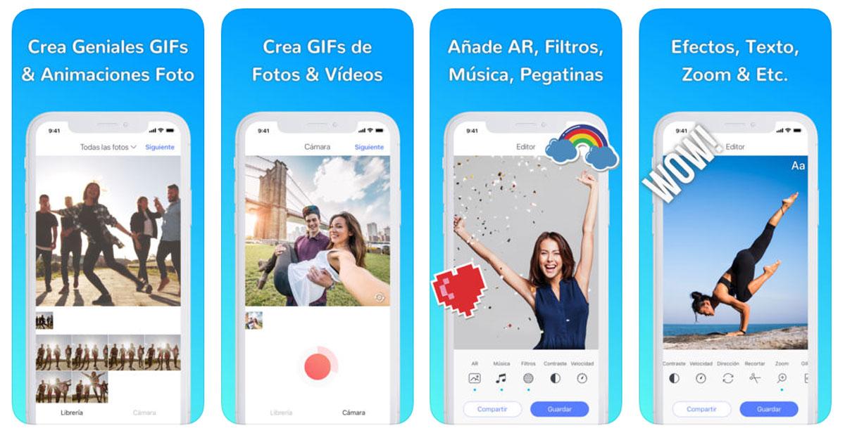 cómo crear GIF animados en Android y iPhone Momento