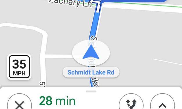 Google Maps comienza a mostrar la velocidad máxima de la vía en su GPS