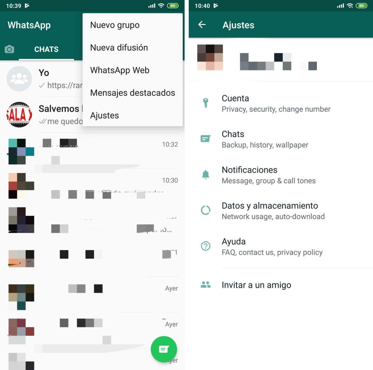 WhatsApp estrena nuevo diseño para su menú de ajustes en Android 1