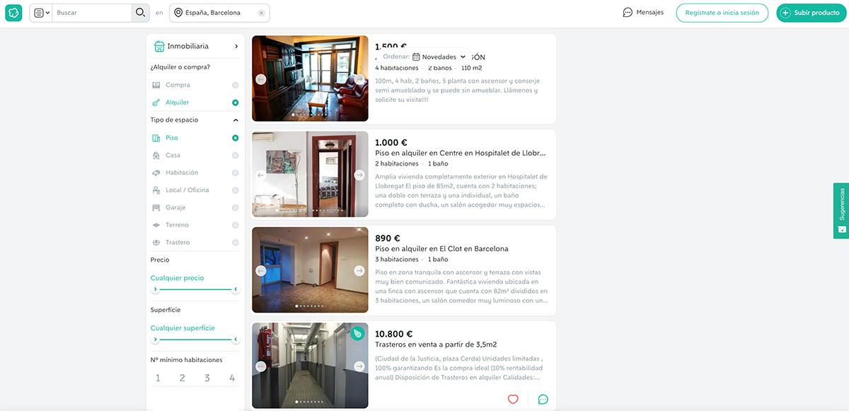 Alquiler de pisos en Barcelona