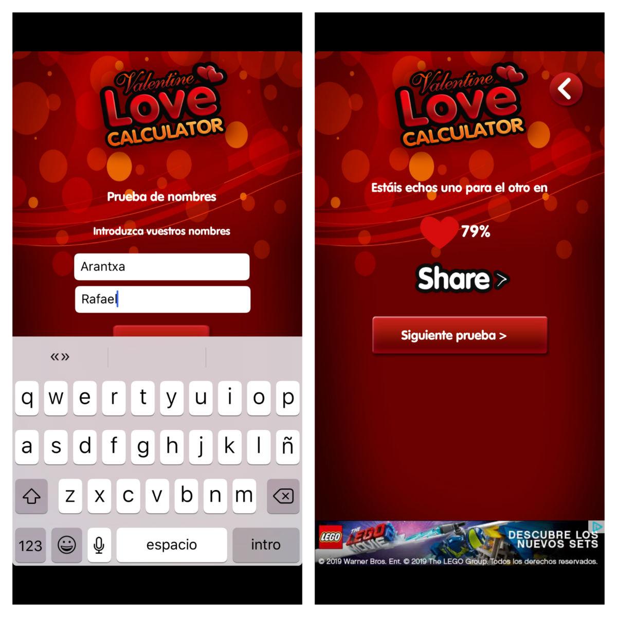 calculadora del amor