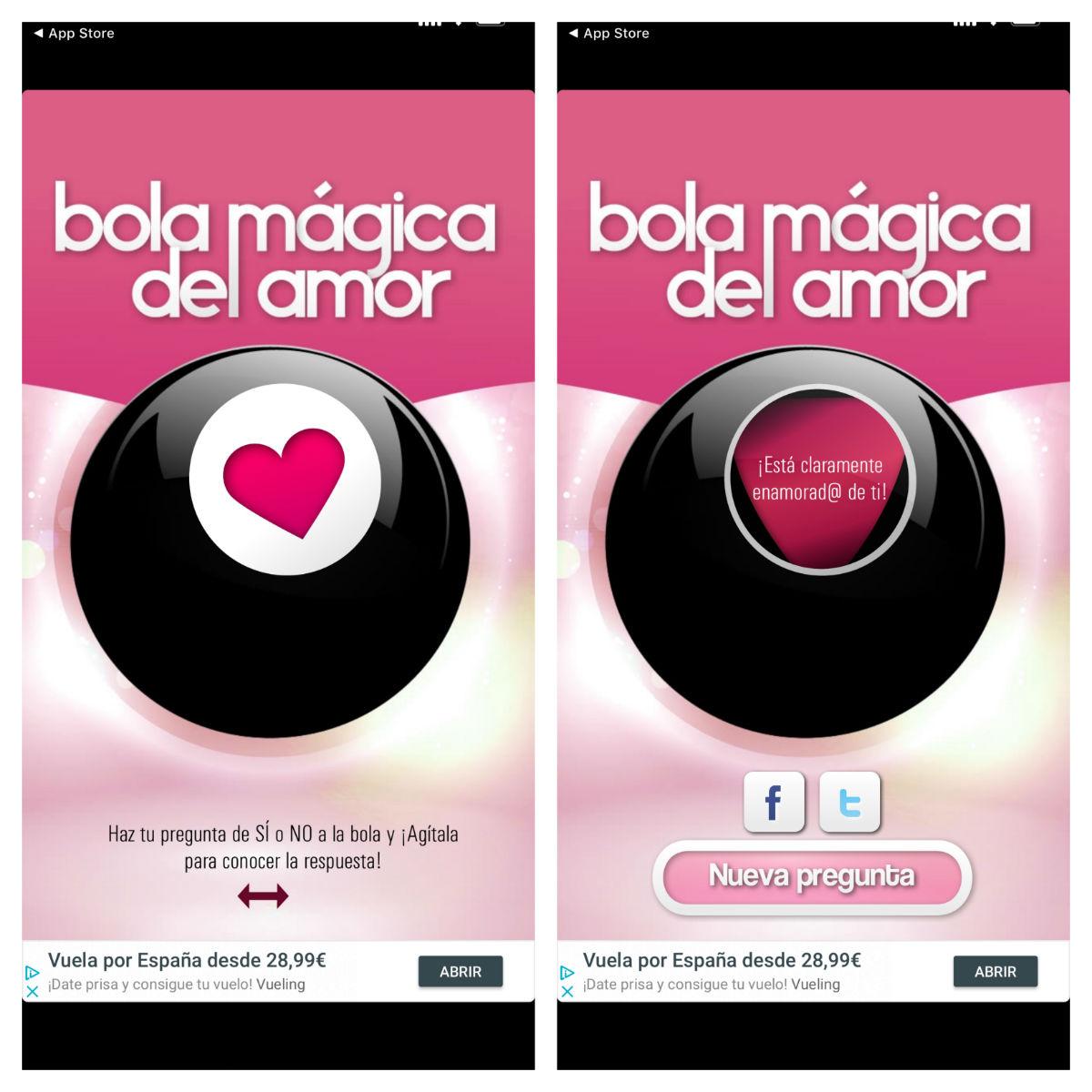 bola magica del amor