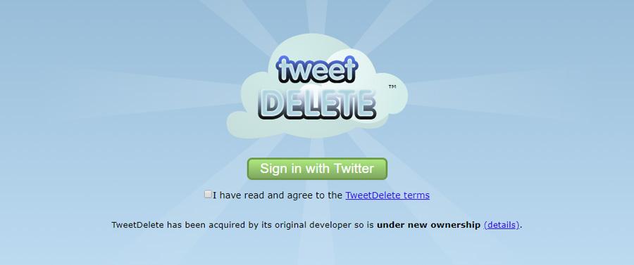 cómo borrar mensajes de Twitter Tweetdelete